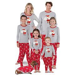 billige Sett med familieklær-Familie Look Grunnleggende Geometrisk / Dyr Langermet Tøysett