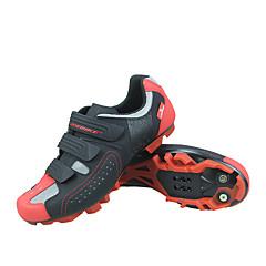 billige Sykkelsko-SIDEBIKE Voksne Mountain Bike-sko Pustende, Anti-Skli, Demping Sykling / Sykkel / Sykling Svart / Rød Herre Sykkelsko / Ventilasjon / Ventilasjon / Krok og øye