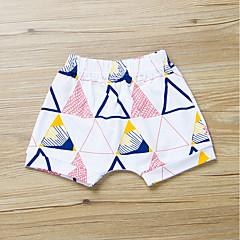 billige Bukser og leggings til piger-Baby Pige Aktiv / Basale Daglig / Sport Geometrisk Trykt mønster Bomuld Shorts Hvid
