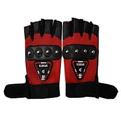 baratos Luvas de Motociclista-Meio dedo Todos Motos luvas Pele / Tecido de Rede Respirável / Antiderrapante