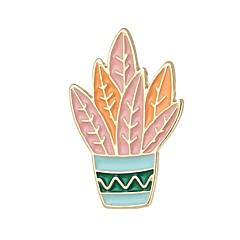 billige Motebrosjer-Dame Tropisk Nåler - Kaktus damer, Enkel, Grunnleggende Brosje Smykker Oransje / Grønn / Blå Til Stevnemøte / Arbeid
