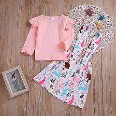 billige Babytøj-Baby Pige Ensfarvet / Blomstret Langærmet Tøjsæt