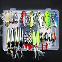 billiga Fiskbeten och flugor-21 pcs Fiskbete Metallbete Metallisk Lätt att bära Sjöfiske / Flugfiske / Kastfiske