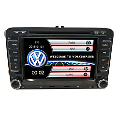 cheap Car DVD Players-520WGNR04 7 inch 2 DIN Windows CE In-Dash Car DVD Player GPS / Touch Screen / Built-in Bluetooth for Volkswagen Support / Steering Wheel Control / Subwoofer Output / Games / SD / USB Support
