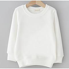 billige Hættetrøjer og sweatshirts til piger-Børn Pige Basale Daglig Ensfarvet Langærmet Normal Polyester Hættetrøje og sweatshirt Hvid