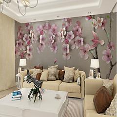 billige Tapet-bakgrunns / Veggmaleri Lerret Tapetsering - selvklebende nødvendig Blomstret / Art Deco / 3D