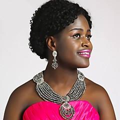 baratos Conjuntos de Bijuteria-Mulheres Camadas Conjunto de jóias - Princesa Incluir Strands Necklace Verde / Rosa / Champanhe Para Festa Festival