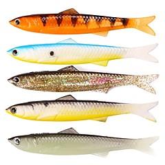 billiga Fiskbeten och flugor-5 pcs Fiskbete Mjukt bete Bly / Plast Lätt att använda Sjöfiske / Flugfiske / Kastfiske