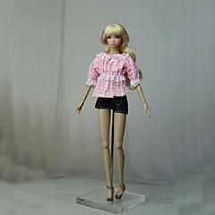 billiga Leksaker och spel-Byxor / Toppar Byxor / Topp För Barbiedocka Rosa Icke vävt tyg / Denimduk Topp / Byxor För Flicka Dockleksak