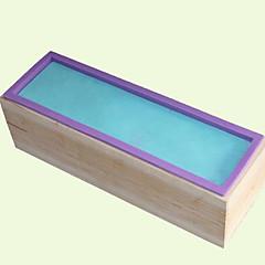 billige Bakeredskap-Bakeware verktøy Tre silica Gel Kreativ Kjøkken Gadget Originale kjøkkenredskap Rektangulær Dessertverktøy 1pc