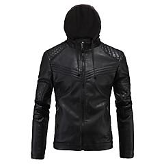 baratos Jaquetas de Motociclismo-AOWOFS D034 Roupa da motocicleta Jaqueta para Homens PU Leather Primavera & Outono / Inverno Resistente ao Desgaste / Proteção