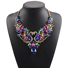 cheap Necklaces-Women's Statement Necklace / Bib necklace - Rhinestone Swan, Animal Statement, Ladies, Luxury, Bohemian White, Red, Rainbow Necklace Jewelry For Wedding, Party, Special Occasion, Birthday, Daily