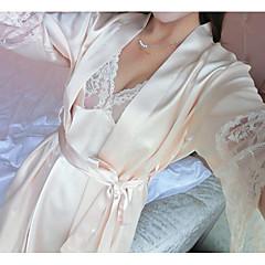 billiga Handdukar och badrockar-Överlägsen kvalitet Badrock, Enfärgad 100% Polyester Badrum