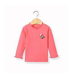billige Babyoverdele-Baby Pige Basale Daglig Sort & Rød Patchwork Patchwork Langærmet Lang Lammeuld Bluse Rød