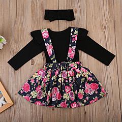 رخيصةأون ملابس الرضع-مجموعة ملابس كم طويل ورد للفتيات طفل
