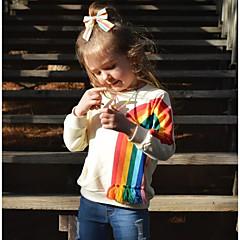 billige Hættetrøjer og sweatshirts til babyer-Baby Pige Basale Trykt mønster Langærmet Polyester Hættetrøje og sweatshirt Beige