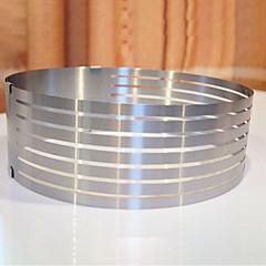 billige Bakeredskap-Bakeware verktøy Rustfritt stål Kreativ Kjøkken Gadget Til Kake Originale kjøkkenredskap Rund Dessertverktøy 1pc