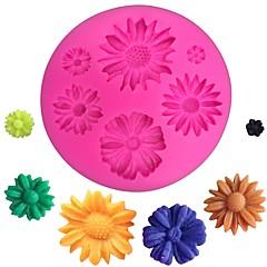 billige Bakeredskap-3d tusenfryd blomst silikon mold fondant mold kake dekorere verktøy kjøkken bakeware