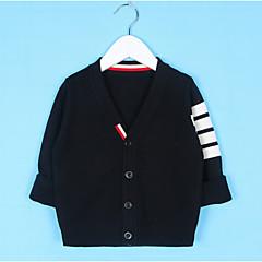 billige Sweaters og cardigans til drenge-Børn Drenge Gade Ensfarvet Langærmet Normal Polyester Trøje og cardigan Blå 100