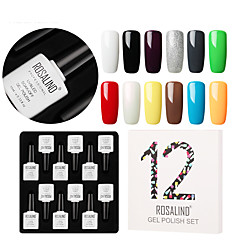 billige Neglelakk og gellakk-Neglelakk UV-Gel 10 ml 12 pcs Glamour Dypp av langvarig Glamour Kreativ / Bedårende / Fargerik