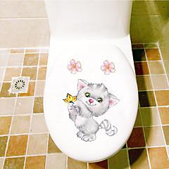 billige Hjemme Dekor-Toilet klistermærker - Animal Wall Stickers Dyr Stue / Soverom / Baderom