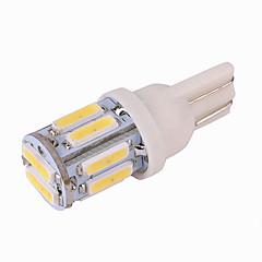 billige Interiørlamper til bil-1 Deler T10 Bil Elpærer 5 W SMD 7020 10 LED Lisensplatelampe / Blinklys / interiør Lights Til Universell / Volkswagen / Toyota General motors Alle år