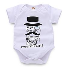 billige Babytøj-Baby Pige Gade Daglig Trykt mønster Kort Ærme Polyester Bodysuit Hvid