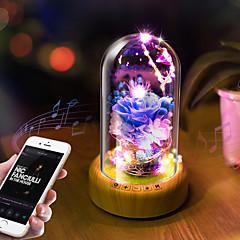cheap Lamps&Lights-Christmas Gift Bluetooth Speaker LED Wishing Speaker Streaming Bottle Music Santa Claus Eteral Flower Portable Stereo Bass