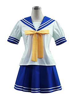 """billige Anime Kostymer-Inspirert av Luckystar Izumi Konata Anime  """"Cosplay-kostymer"""" Cosplay Klær Skoleuniformer Lapper Kortermet Topp Skjørte Slips Til"""