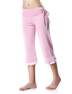 Mulheres Calças de Corrida Calças para Ioga Exercício e Atividade Física Esportes Relaxantes Corrida Elastano Algodão Nailom Poliéster