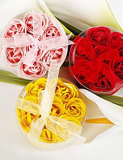 Pratik Şekerleri-4 Banyo ve Sabunlar Bahçe Teması Kırmızı / Pembe / Sarı