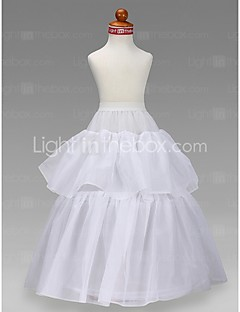 Wedding Special Occasion Slips Tulle Netting Taffeta Floor-length A-Line Slip Ball Gown Slip With