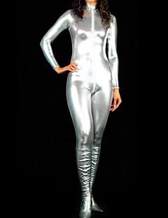 billige Zentai-Skinnende Zentai Drakter Ninja Zentai Cosplay-kostymer Rød Grønn Fuksia Gylden Sølv Ensfarget Trikot/Heldraktskostymer Kattesuit Zentai