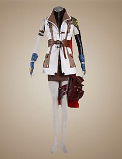 baratos Fantasias de Vídeo Game-Inspirado por Final Fantasy Lightning Vídeo Jogo Fantasias de Cosplay Ternos de Cosplay Retalhos Manga Longa Casaco / Blusa / Saia Trajes da Noite das Bruxas