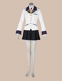 """billige Anime cosplay-Inspirert av AngelBeats Kanade Tachibana Anime  """"Cosplay-kostymer"""" Cosplay Klær Skoleuniformer Lapper Langermet Frakk Trøye Skjørte Krage"""