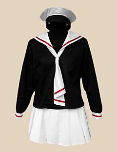 """Inspirert av Cardcaptor Sakura Tomoyo Daidouji Anime  """"Cosplay-kostymer"""" Cosplay Klær Skoleuniformer Lapper LangermetHalsklut Skjørte"""
