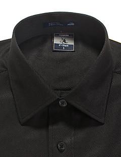 お買い得  セール-男性用 プラスサイズ シャツ ソリッド