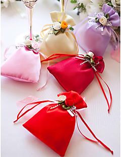 billige Bryllupsbutikken-Kreativ Satin Gaveholder med Blomst Favoritt Vesker