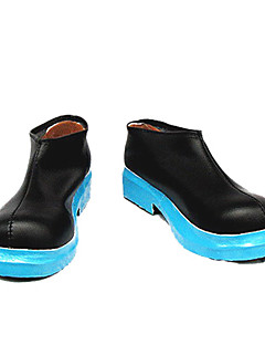 cheap Videogame Cosplay Shoes-Miku Black Blue Sole Low-cut Cosplay Shoes