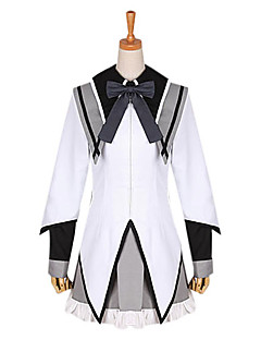 cheap Anime Costumes-Inspired by Puella Magi Madoka Magica Homura Akemi Anime Cosplay Costumes Cosplay Suits School Uniforms Patchwork Long Sleeves Cravat