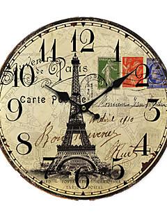 Χαμηλού Κόστους Ξύλινα Ρολόγια Τοίχου-ευρώ χώρας ρολόι τοίχου