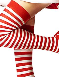 billige julen Kostymer-Sokker og Strømpebukser Dame Jul Halloween Nytt År Festival / høytid Bomull Drakter Rød og Hvit