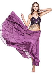 cheap Belly Dance Wear-Belly Dance Skirt Women's Performance Linen Ruffles Dropped Skirt