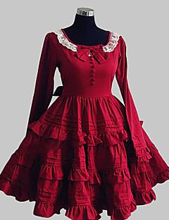 billiga Lolitaklänningar-Söt Lolita Prinsessa Dam Klänningar Cosplay Långärmad Knälång