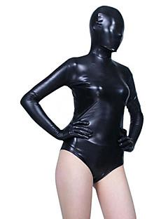 Kiiltävät Zentai asut Ninja Zentai Cosplay-asut Musta Yhtenäinen Trikoot/Kokopuku Zentai Spandex Naiset Halloween Joulu