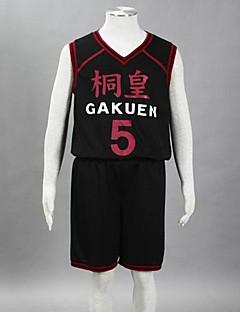 """billige Anime Kostymer-Inspirert av Kuroko ingen Basket Aomine Daiki Anime  """"Cosplay-kostymer"""" Cosplay Klær Trykt mønster Ermeløs Vest Shorts Til Herre"""