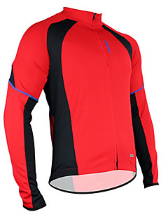 cheap Cycling Jerseys-SANTIC Men's Long Sleeves Cycling Jersey Bike Jersey, Thermal / Warm, Quick Dry, Breathable, Sweat-wicking