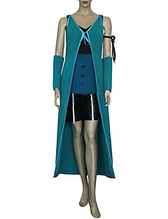 Inspirert av Final Fantasy Rinoa video Spill Cosplay Kostumer Cosplay Suits Lapper Blå Ermeløs Vest / Topp / Shorts / Ermer