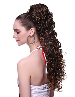 cheap Health & Beauty Clearance-High Quality Synthetic Wavy Brown Moderm Ponytail