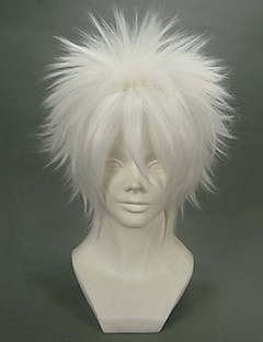 Cosplay Wigs Reborn! Byakuran White Short Anime Cosplay Wigs 32 CM Heat Resistant Fiber Male
